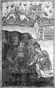 Русалка на старых гравюрах