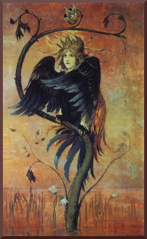 Картина Васнецова «Гамаюн, птица вещая»