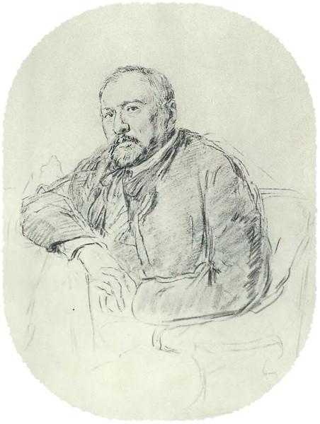 Н. С. Лесков С карандашного рисунта И. Е. Репина 1888–1889 гг.